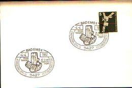 88599) Germania Fdc- Con 5 D.ordinaria.-con Bollo Speciale Esposizione Di Minerali E Fossili  A BADEMS- 4/4/1982 - Minerali