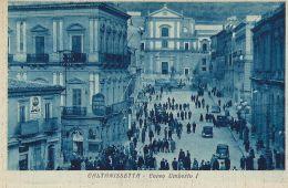 CALTANISETTA CORSO UMBERTO I 1925 ANIMATA - Caltanissetta