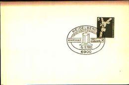 88600) Germania Fdc- Con 5 D.ordinaria.-con Bollo Speciale Esposizione Di Minerali E Fossili  A HEIDELBERG- 6/9/1980 - Minerali