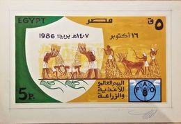 C) 1985 EGYPT, EGYPTIAN JEROGLYMS, ANIMALS, WORLD FOOD DAY, DIE ART WORK - Other