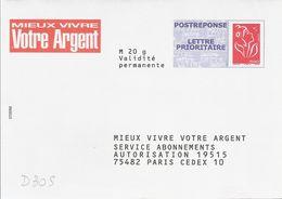 D305 Entier / Stationery / PSE PAP Réponse Lamouche - Mieux Vivre Votre Argent - Lot 07P597 - Entiers Postaux