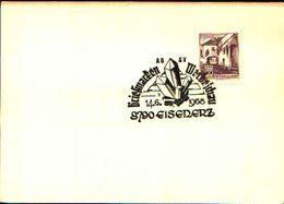 88605) Austria Fdc- Con 20pf.castelli..-con Bollo Speciale Esposizione Di Minerali E Fossili-eisederz -14/6/1968 - Minerali