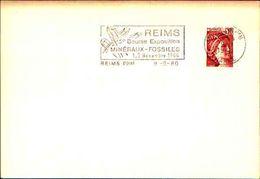 88608) Francia-fdc-con 10c.p.marianna..-bollo Speciale Esposizione Di Minerali E Fossili -reims -9/9/-1980 - Minerali