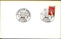 88617) Francia-fdc-con 10c.p.marianna..-bollo Speciale Esposizione Di Minerali E Fossili -colmar -4-5/10/-1980 - Minerali