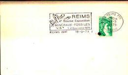 88620) Francia-fdc-con 20c.p.marianna..-bollo Speciale Esposizione Di Minerali E Fossili -reims -4-5/10/-1980 - Minerali