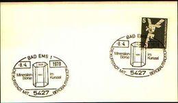 88611) Germania Fdc- Con 5 D.ordinaria.-con Bollo Speciale Esposizione Di Minerali E Fossili  A Bad Ems- 8/4/1979 - Minerali