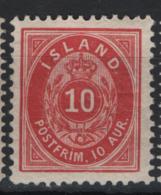 Islanda 1876 Unif. 8A  */MH VF/F - Neufs