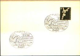 88618) Germania Fdc- Con 5 D.ordinaria.-con Bollo Speciale Esposizione Di Minerali E Fossili  A Fulda- 5/4/1981 - Minerali