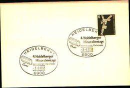 88621) Germania Fdc- Con 5 D.ordinaria.-con Bollo Speciale Esposizione Di Minerali E Fossili  A Heidelberg- 3/9/1983 - Minerali