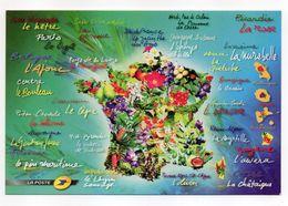 """LA POSTE -- Carte Publicitaire """"La France Comme J'aime """" (coeur)--spécialités Régionales - Poste & Facteurs"""