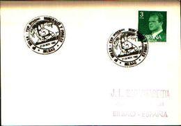 88616) Spagna Fdc- Con 3 P.-con Bollo Speciale Esposizione Di Minerali E Fossili A Bilbao -27/11/1982 - Minerali