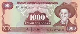 NICARAGUA 1000 CÓRDOBAS 1985 P-156b UNC WITHOUT WATERMARK [NI450b] - Nicaragua
