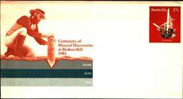 88623)  Australia-aereogramma Di 27c. Cent.of Mineral Discoveries A Broken Hill 1983 Nuova - Minerali