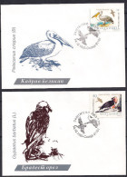 Macedonia 1995 Nature Protection, Birds, Pelecanus Crispus, Gypaetus Barbatus, FDC - Macedonië