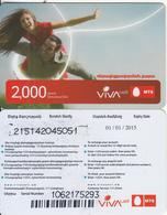 ARMENIA - Couple, VIVA/MTS Prepaid Card 2000 AMD(large Barcode), Exp.date 01/01/15, Used - Armenia