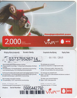 ARMENIA - Couple, VIVA/MTS Prepaid Card 2000 AMD(small Barcode), Exp.date 01/01/15, Used - Arménie