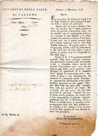 1825  PALERMO - - Decreti & Leggi