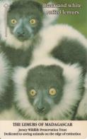 JERSEY ISL. - The Lemurs Of Madagascar/Black & White Ruffed Lemurs, CN : 22JERC(normal 0), Tirage %13773, Used - United Kingdom