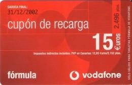 TARJETA TELEFONICA DE ESPAÑA, (PREPAGO) 227. - Airtel