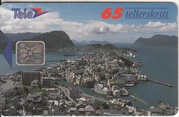 NORWAY - Alesund(008F), Chip SC4, CN : 00222, Tirage 4000, 01/93, Used - Norway