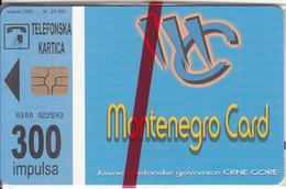MONTENEGRO - Mo Net, Tirage 25000, 08/00, Mint - Montenegro