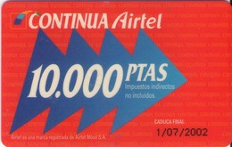 TARJETA TELEFONICA DE ESPAÑA, (PREPAGO) 224. - Airtel