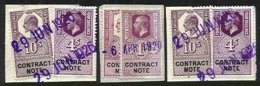 GREAT BRITAIN, Contract Note, Used, F/VF - Revenue Stamps