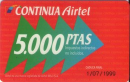 TARJETA TELEFONICA DE ESPAÑA, (PREPAGO) 223. - Airtel