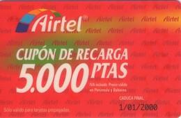 TARJETA TELEFONICA DE ESPAÑA, PREFIJO 607 (PREPAGO) 220. - Airtel