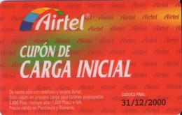 TARJETA TELEFONICA DE ESPAÑA, (PREPAGO) 225. - Airtel