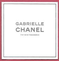 F- Carte Chanel - Gabrielle -perfume Card - UK - Perfume Cards