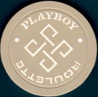 Roulette Casino Chip. Playboy, Atlantic City, NJ. Gray. L39. - Casino