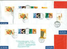 Hong Kong 2004. Tree Envelopes Passed The Mail. Airmail. - 1997-... Région Administrative Chinoise