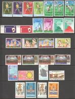 1967-73  12 Commemorative Sets  UM And UM   - MH And MNH - Guyana (1966-...)