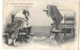 LOULOU PHOTOGRAPHE APPAREIL PHOTO ANCIEN CPA 2 SCANS - Photographie