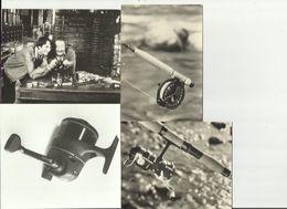 Lot De 12 Photos Publicitaires Originales Mitchell - 8 Clichés 12cm X 17cm Moulinets ( Moulinet ) + 4 Formats Plus Petit - Fishing