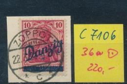 Danzig Nr. 36a  Geprüft  O  (c7106 ) Siehe Scan - Danzig