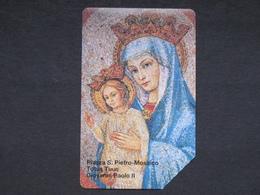 SCV 27 - 6027 C&C - PIAZZA SAN PIETRO MOSAICO - USATA MAGNETIZZATA ORIGINALE - Vatican
