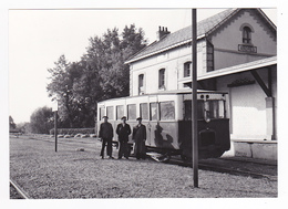 CPM TRAIN VOIR DOS 62 Ardres Vers Calais Gare De Bifurcation Pour Pont D'Ardres En 1953 VOIR DOS - Ardres