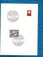 Switserland -  Blatt Mit Sonderstempel / 05.01.1959 - Ascona - Storia Postale