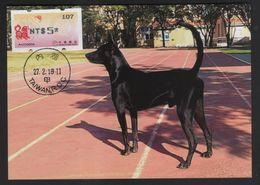 Taiwan R.O.CHINA - ATM Frama -Maximum Card.- Thriving Dog #107 - ATM - Frama (vignette)