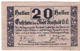 Österreich Austria Notgeld 20 HELLER FS212 FREISTADT /185M/ - Austria