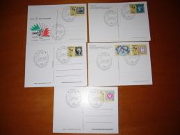 """TEM7855-   ROMA       """"    ESPOSIZIONE MONDIALE DI FILATELIA""""   /     25.10.1985  FDC ( 5 CARDS) - Esposizioni Filateliche"""