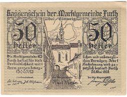 Österreich Austria Notgeld 50 HELLER FS214 FURTH /186M/ - Austria