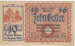 Österreich Austria Notgeld 10 HELLER FS217 GAINFARN /186M/ - Austria