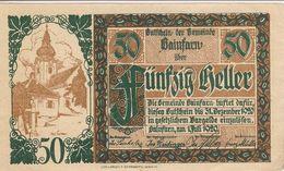 Österreich Austria Notgeld 50 HELLER FS217 GAINFARN /186M/ - Austria