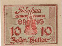 Österreich Austria Notgeld 10 HELLER FS220 GAMING /187M/ - Austria