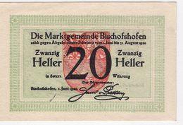 Österreich Austria Notgeld 20 HELLER FS88 BISCHOFSHOFEN /187M/ - Austria