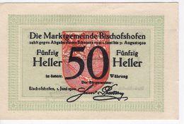 Österreich Austria Notgeld 50 HELLER FS88 BISCHOFSHOFEN /187M/ - Austria