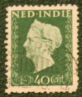 40 Ct Koningin Wilhelmina NVPH 340 1948 Gestempeld / Used NEDERLAND INDIE / DUTCH INDIES - Indes Néerlandaises